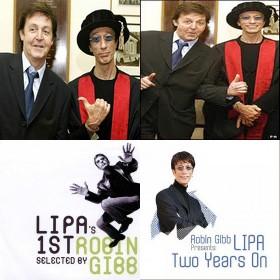"McCartney otorgó a Robin Gibb diploma en ""Rock and Roll"""